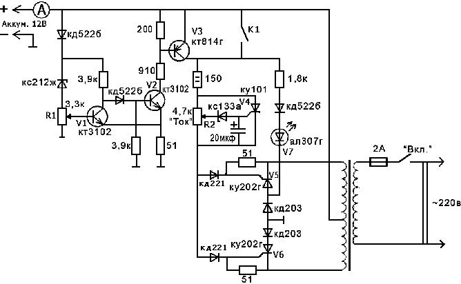 Наглядная однолинейная схема электроснабжения-пример